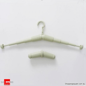 Travel Portable Adjustable Hanger Anti Skid Clothes Hook - Green