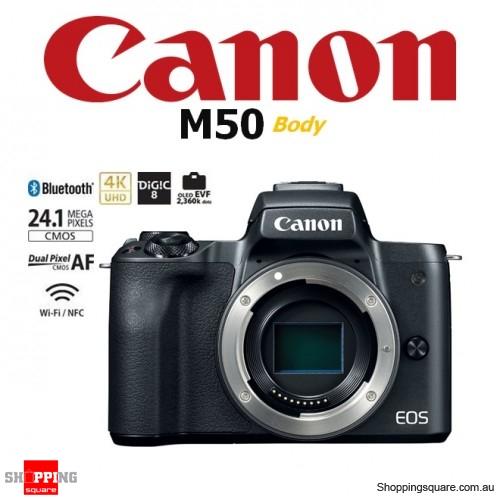 Canon EOS M50 DSLR 24.1MP 4K Ultra HD Digital Camera Body Black