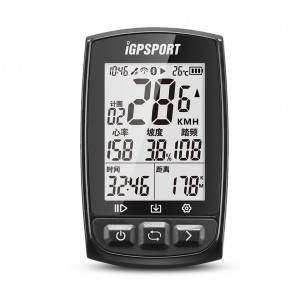 iGPSPORT iGS50E Waterproof GPS Bicycle Sport Computer Speedometer with ANT+ Function Black Colour
