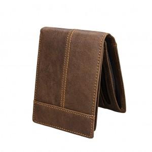 RFID Blocking Leather Wallet Bifold Men Moneyclip Card Holder