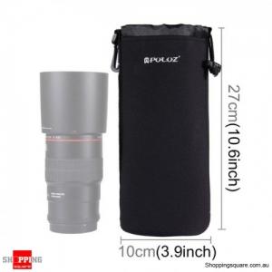 Neoprene Camera Lens Carrying Bag with Hook for DSLR Camera