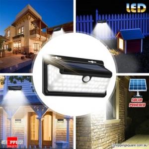 158-LED Solar Powered Motion Sensor Flame Wall Light Garden Lamp