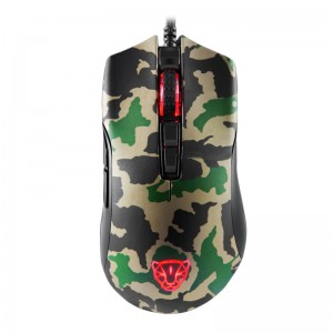Motospeed V70 USB Wired RGB 12000dpi 7 Key with PMW3360 Engine Gaming Mouse - Army Green Colour