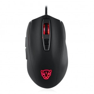 Motospeed V60 USB Wired RGB PMW3325 DPI5000 Gaming Mouse - Black Colour