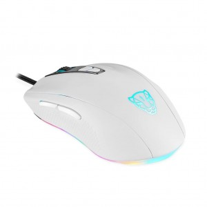 Motospeed V60 USB Wired RGB PMW3325 DPI5000 Gaming Mouse - White Colour