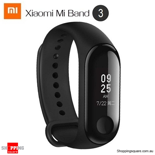 Original Xiaomi Mi band 3 Smart Wristband OLED Display 50M Waterproof Heart Rate Monitor Bracelet Black Colour - AU Stock