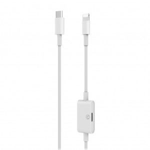 USB C to Lightning Cable with Lightning Headphone Jack