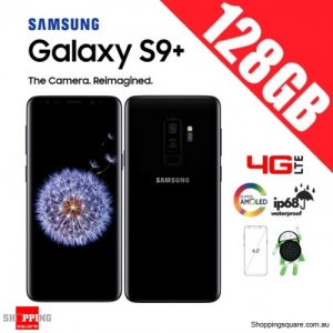 Samsung Galaxy S9 Plus 128GB G9650 Dual Sim 4G LTE Unlocked Smart Phone Midnight Black