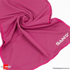 Sports Cooling Cold Towel Absorbent Quick Dry Washcloth lightweight For Gym Running Yoga Backpacking - Rose