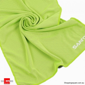 Sports Cooling Cold Towel Absorbent Quick Dry Washcloth lightweight For Gym Running Yoga Backpacking - Green