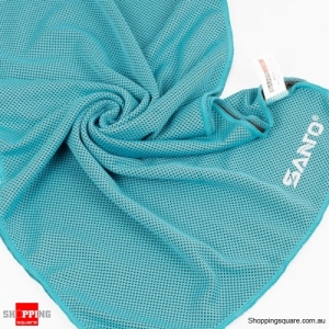 Sports Cooling Cold Towel Absorbent Quick Dry Washcloth lightweight For Gym Running Yoga Backpacking - Blue