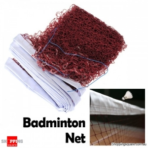 6.0m X 0.75m Standard Braided Badminton Net Sports with White Hem