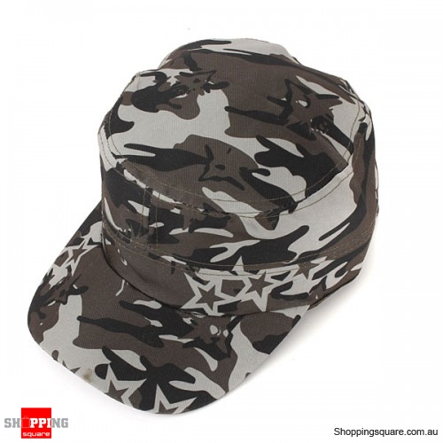 Trucker Cap Flat Army Camouflage Military Soldier Hat Sport Cap Jungle- ERDL Camouflage