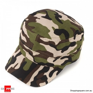 Trucker Cap Flat Army Camouflage Military Soldier Hat Sport Cap Jungle- Woodland Camouflage