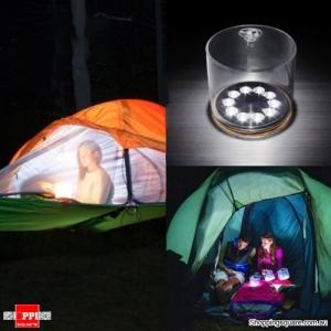 Solar Powered Inflatable LED Light Portable Folding Outdoor Camping Lantern Garden Lamp