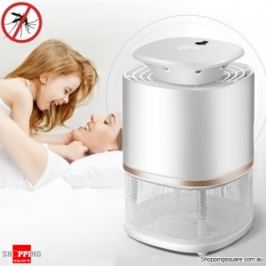 Electronic USB LED UV Light Mosquito Killer Repellent Catcher for Bedroom Living Room Office - White