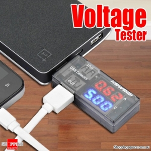 3V-9V USB Current Voltage Detector Tester Equipment with Double Row Display