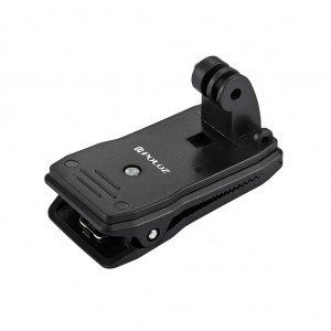 360 Degree Rotation Multifunctional Backpack Clip for GoPro