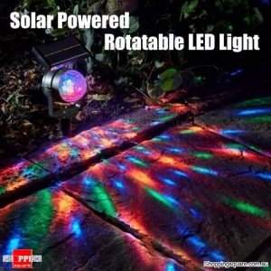 Solar Rotatable LED Projection Lawn Light Garden Lamp