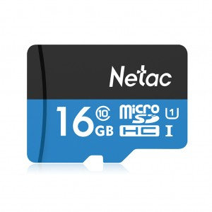 Netac P500 TF Card MicroSDHC High Speed Memory Card Up to 80MB/s - 16GB