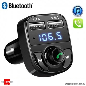 Bluetooth Car Kit MP3 Player FM Transmitter Wireless Dual USB Charger For iPhone Samsung