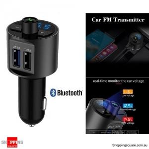 Wireless Bluetooth Car Kit FM Transmitter Radio MP3 Player Dual USB Charge