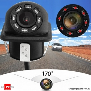 Universal LED Night Vision 170 Car Rear View Reverse Backup Camera Waterproof
