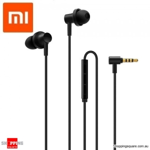 New Xiaomi Hybrid 2 Graphene Earphones With Mic Black Colour