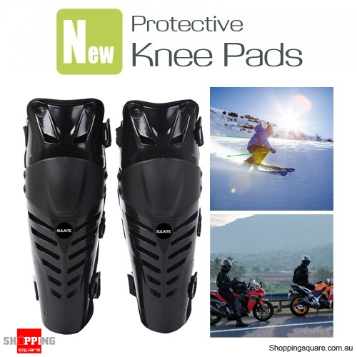Motorcycle Ski Skateboard Knee Protector Kneepad Protective Gear for Riding Skiing - Black