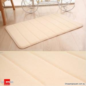 Coral Velvet Memory Foam Slow Rising Bathroom Mat Soft Non-slip Plush Floor Carpet - Cream