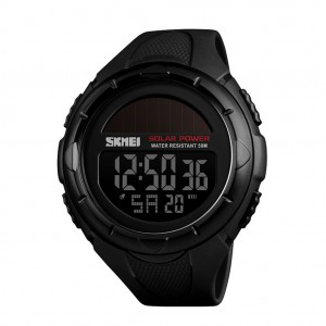 SKMEI 1405 Multifunctional Outdoor Men's Solar Digital Watch - Black Colour