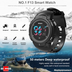 NO.1 F13 Waterproof Smart Watch with Real-time Heart Rate Monitor Gray Colour