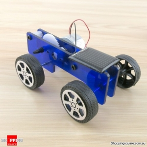 DIY Solar Powered Car Physics Experiment Science Toy Kit for Kids Education - Blue