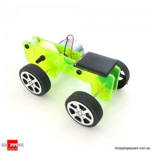 DIY Solar Powered Car Physics Experiment Science Toy Kit for Kids Education - Green