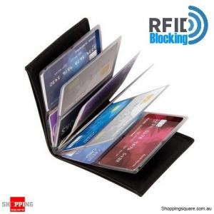 Unisex Leather RFID Blocking Card Wallet Holder