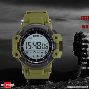 Multi-Function Bluetooth Waterproof Pedometer Smart Watch backlight For iOS Android - Green