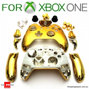 Chrome Shell Case Housing for Xbox One Wireless Controller - Electroplated Gold Colour