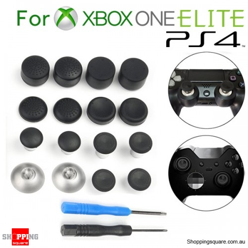 Replacement Spare Parts Magnetic Thumbstick Grips Kit for Xbox One Elite 3.5mm & PS4 Gamepad Controller