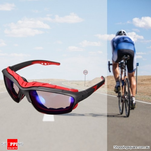 Unisex Sport Sunglasses Cycling Bicycle Bike Outdoor Eyewear Goggle Sunglasses - Gray