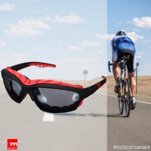 Unisex Sport Sunglasses Cycling Bicycle Bike Outdoor Eyewear Goggle Sunglasses - Black