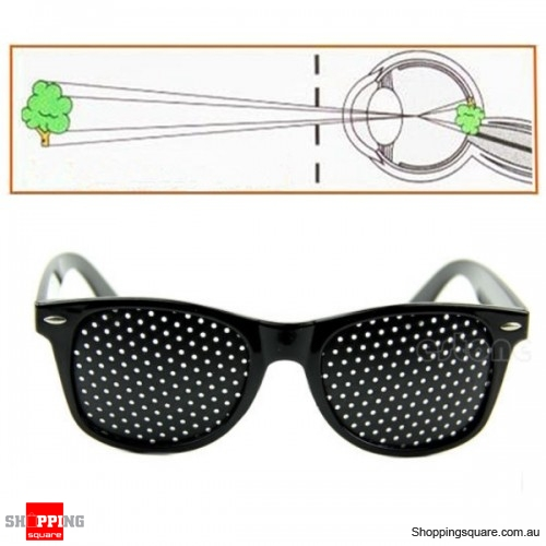 c6da2dfaf4 Anti Fatigue Eyesight Vision Pin Holes Stenopeic Pinhole Glasses - Black -  Online Shopping   Shopping Square.COM.AU Online Bargain   Discount Shopping  ...