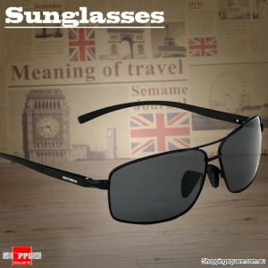 Men's Outdoor Aluminum Magnesium Polarized Sunglasses Eyewear for Sports Driving - Black