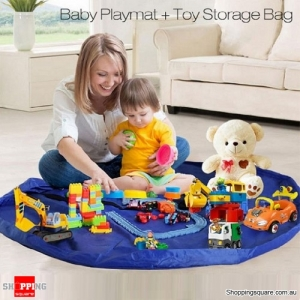 1.5m Large Portable Toys Storage Bag Room Tidy Up Toy Bag Carpet Rug Nylon Kids