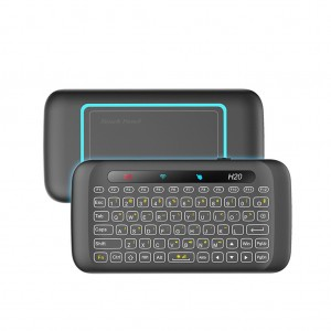 Mini 2.4GHz Wireless Touchpad Keyboard Mouse with IR Learning Function & Backlit