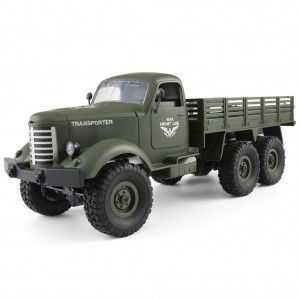 JJRC Q60 1:16 2.4G 6WD RC Remote Control Off-road Military Truck Green Colour