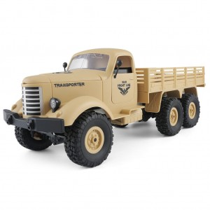 JJRC Q60 1:16 2.4G 6WD RC Remote Control Off-road Military Truck Yellow Colour