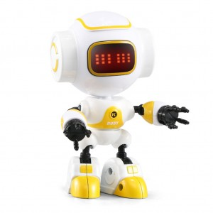 JJRC R9 Touch Sensitive Interactive Mini Robot with Sound & LED Light - Yellow
