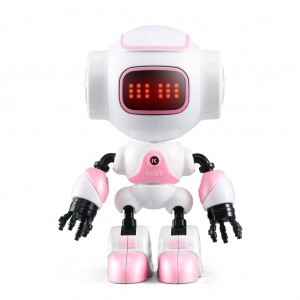 JJRC R9 Touch Sensitive Interactive Mini Robot with Sound & LED Light - Pink