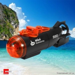 Mini 3CH Infrared Remote Control Submarine RC Toy with LED Light