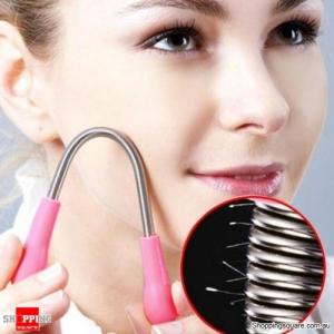 Spring Manual Facial Hair Remover Epilator for Beauty Make Up Women